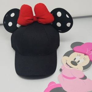 Disney Minnie Black Baseball Cap